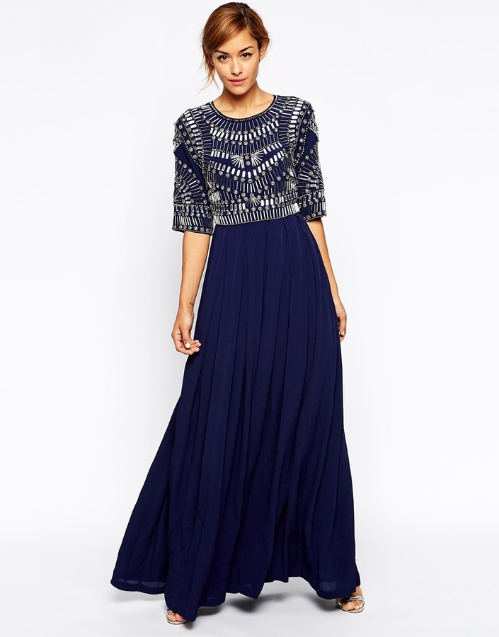 Asos Collection Embellished Armour Maxi Dress | Where to buy & how ...