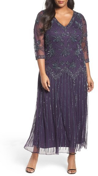 $228, Pisarro Nights Plus Size Beaded A Line Gown