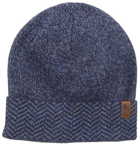 f79401a60bb Chevron Cuff Beanie Hat. Navy Beanie by Ben Sherman
