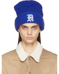 R13 Blue Oversized Embroidery Beanie