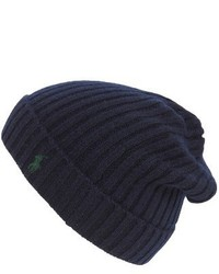 Cashmere wool beanie blue medium 1024865