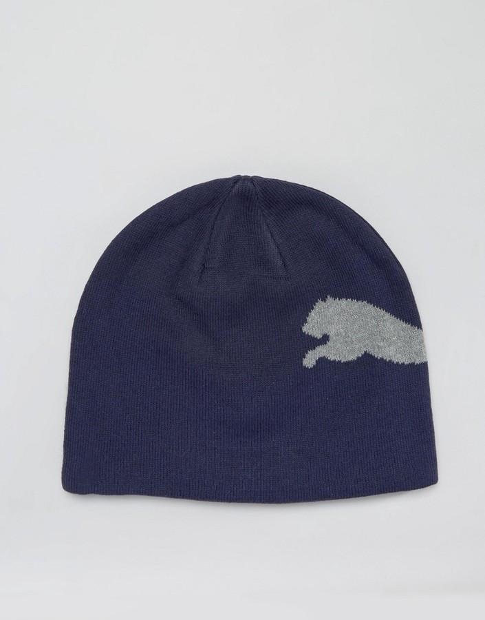 6f4fd6f8e89 ... Puma Ess Big Cat Beanie In Blue 5292509 ...