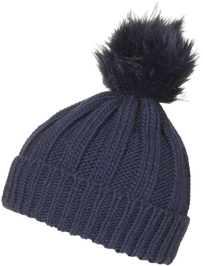 199f35acf572 Topshop Faux Fur Pom Beanie Hat, $26 | Topshop | Lookastic.com