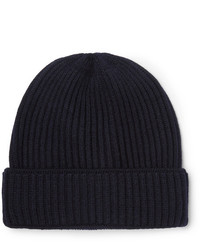 Salle Privée Inigo Ribbed Virgin Wool Beanie