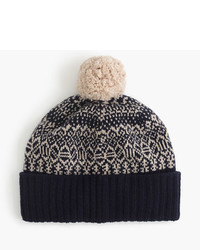 J.Crew Lambswool Beanie Hat In Jacquard