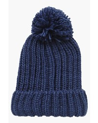 Boohoo Lola Oversize Pom Beanie Hat