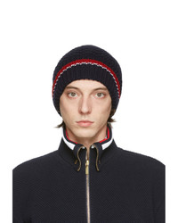 Thom Browne Navy Fine Merino Collaged Links Rwb Beanie