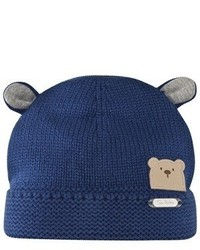 Mayoral Navy Knit Bear Ears Beanie