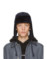 Paul Smith Navy Sheepskin Chapka Hat