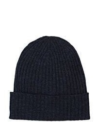 Barneys New York Rib Knit Beanie Blue