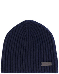 Salvatore Ferragamo Ribbed Beanie Hat
