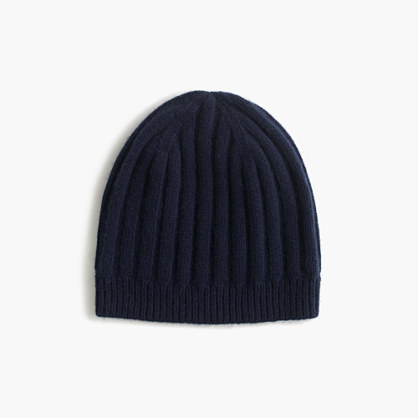 Ribbed Hat In Everyday Cashmere. Navy Beanie by J.Crew 7c12b81cf2dc