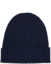 Barneys New York Ribbed Merino Wool Beanie