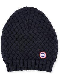 Slouchy basketweave wool beanie medium 791970