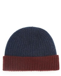 The Store At Bloomingdales Two Tone Cashmere Beanie
