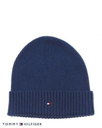 Tommy Hilfiger Pima Cotton Cashmere Beanie Insignia Blue Heather