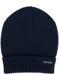 Dolce & Gabbana Turn Up Ribbed Hem Beanie