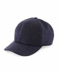 Brunello Cucinelli Wool Baseball Hat Navy