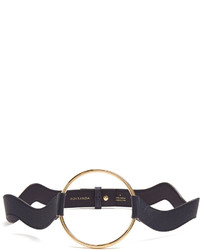 Roksanda Circle Front Wave Saffiano Leather Belt