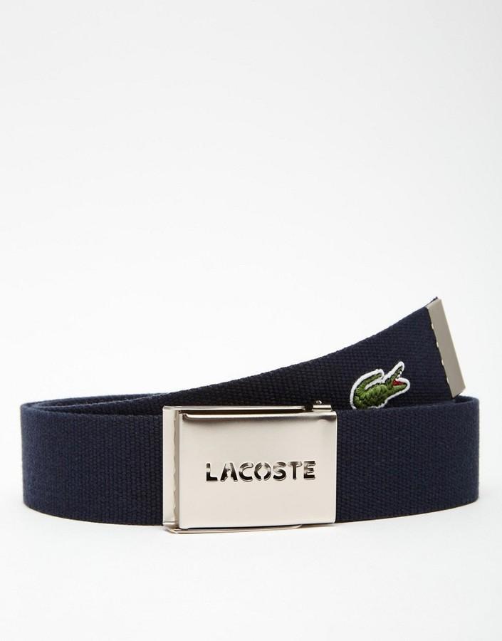 1d5962a48 ... Lacoste Logo Webbing Belt ...