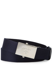 38386463d12abc Prada Nylon Belt Wlogo Plaque Buckle, $310 | Neiman Marcus ...