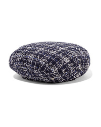 Maison Michel Flore Metallic Cotton Blend Tweed Beret