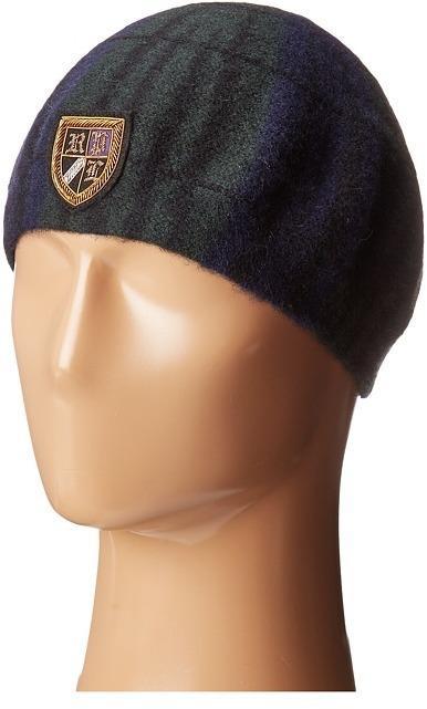 Polo Ralph Lauren Tartan Beret With Embroidery Berets