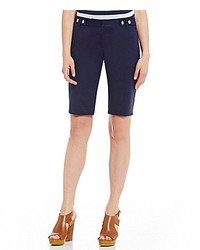 MICHAEL Michael Kors Michl Michl Kors Stretch Cotton Snap Tab Waistband Bermuda Shorts