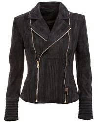 Balmain ribbed accent biker jacket medium 762366