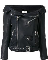 Off the shoulder biker jacket medium 5267063