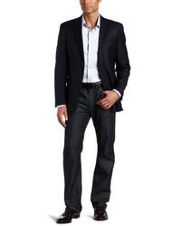 Tommy Hilfiger Adams Navy Stripe 2 Button Side Vent Jacket