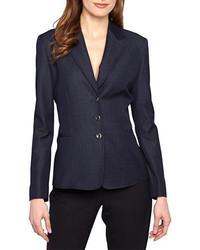 Tahari Arthur S Levine Navy Three Button Jacket