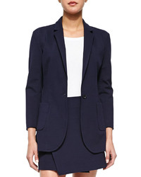 Atm Single Button Woven Boyfriend Blazer