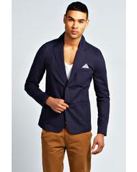 Boohoo Cotton Twill Button Blazer
