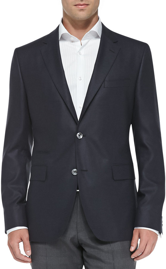 Hugo Boss Boss Two Button Silk Suit Jacket Navy | Where to buy ...