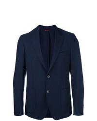 Fay Button Up Blazer Blue