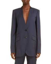 Givenchy Collarless Wool Jacket