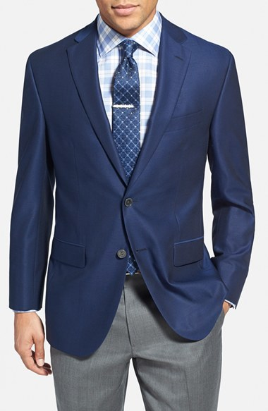 David Donahue Connor Classic Fit Wool Blazer