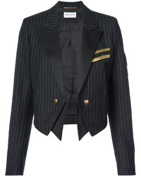 Saint Laurent Cropped Military Style Blazer