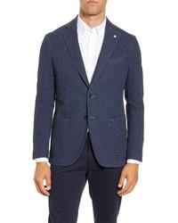 L.B.M. Fit Nailhead Stretch Cotton Blend Sport Coat