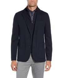 Ted Baker London Glenny Slim Fit Layered Look Blazer