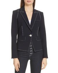 Veronica Beard Machenzie Contrast Stitch Dickey Jacket
