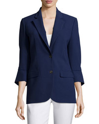 Michael Kors Michl Kors Collection Pushed Sleeve Two Button Blazer