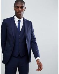 MOSS BROS Moss London Skinny Suit Jacket In Navy