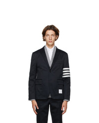 Thom Browne Navy 4 Bar Unconstructed Sport Blazer