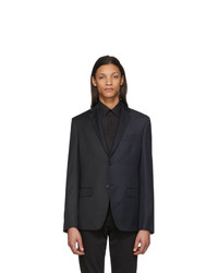 Fendi Navy And Black Bicolor Pinstripe Blazer