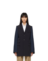 Maison Margiela Navy And Blue Gabardine Blazer