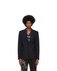 Dries Van Noten Navy Borris Blazer