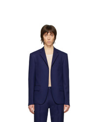 Random Identities Navy Buttonless Blazer