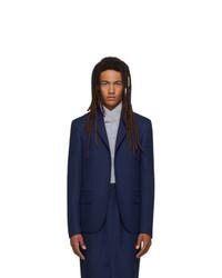 Random Identities Navy Buttonless Blazer